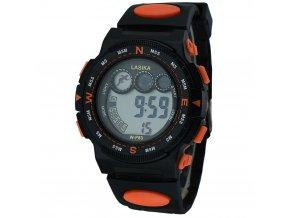 panske digitalni hodinky W F83 oranžové zboku (2)