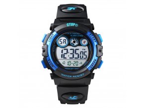detske digitalni sportovni hodinky gtup 1110 army cerno modre vodotesne