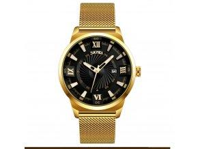 panske hodinky skmei 9166 cerne elegantni