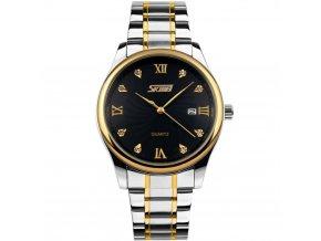 panske elegantni hodinky skmei 9101 cerne