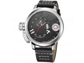 spolecenske elegantni panske hodinky weide uv 1606 1c s kozenym reminkem japonskym strojkem (2)