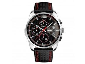 panske hodinky skmei 9106 cervene sportovni