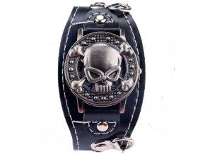 panske motorkarske hodinky s lebkou pankove skull 2
