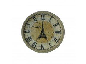 hodinky hodiny nastenne magneticke magnet na lednicku eiffelova vez 1889