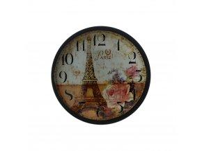 hodinky hodiny nastenne magneticke magnet na lednicku paris rose