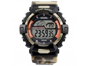 panske sportovni digitalni hodinky smael 1527 khaki
