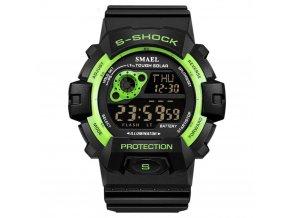 panske sportovni digitalni hodinky smael 1446 zelene