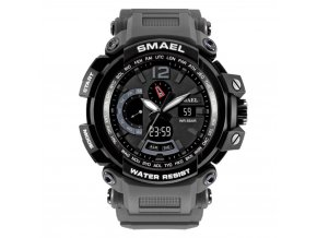 panske sportovni digitalni hodinky s dualnim casem smael 1702 šedé