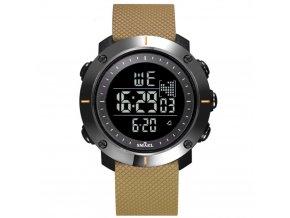 panske damske digitalni hodinky smael 1711 coffe