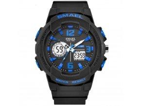 panske sportovni digitalni hodinky smael 1645 modre
