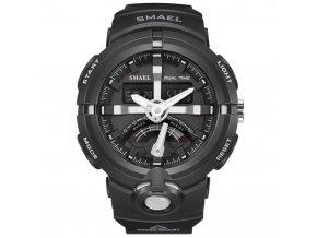 panske sportovni digitalni hodinky smael 1637 silver
