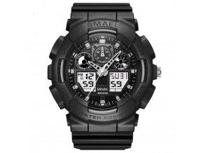 panske sportovni digitalni hodinky smael 1027 bile cerne