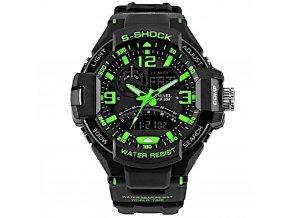 panske sportovni digitalni hodinky smael 1516 zelene