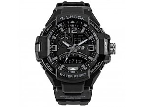 panske sportovni digitalni hodinky smael 1516 černé