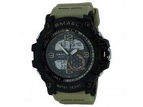panske sportovni hodinky s dualnim casem 1617 khaki