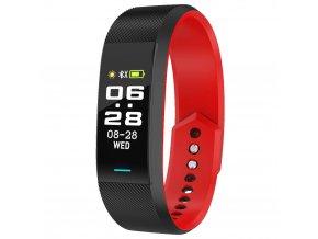 chytry naramek s tlakomerem krokomerem s propojenim s telefonem smart hodinky cervene 2