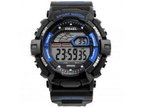 panske sportovni digitalni hodinky smael 1527 modre