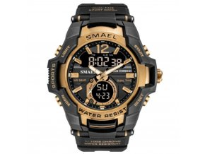 panske hodinky s dualnim casem smael 1805 rose gold