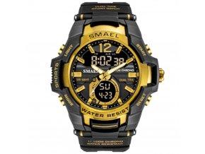 panske hodinky s dualnim casem smael 1805 zlate gold
