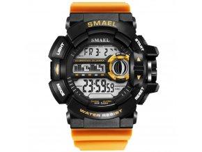 panske sportovni hodinky 1385 smael oranzove