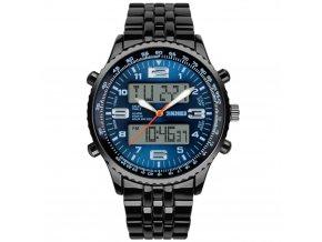 panske hodinky skmei s dualnim casem skmei 1032 modre hlavni