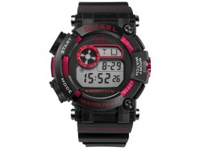 sportovni vodotesne hodinky 5 atm smael 1638 cervene