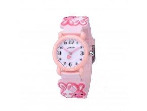 detske hodinky jnew s 3d reminkem barevne zajicek 86149 4 ruzove