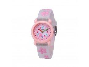 detske hodinky jnew s 3d reminkem barevne ruzove kyticky 86195 2 2