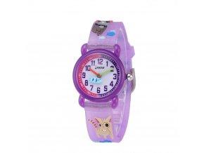 detske hodinky jnew s 3d reminkem barevne kocky s rybou 86264