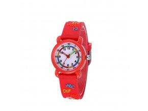 detske hodinky jnew s 3d reminkem barevne cerveny text
