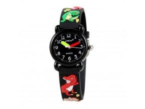 detske hodinky jnew s 3d reminkem barevne cerny dracek