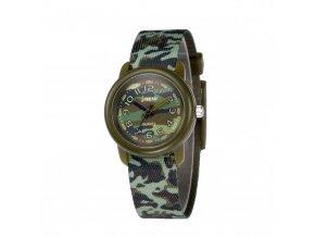 detske hodinky jnew s 3d reminkem barevne khaki 86308 zelene