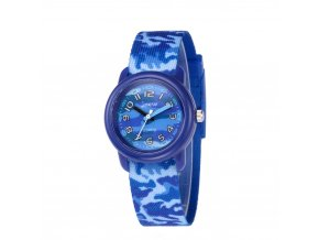 detske hodinky jnew s 3d reminkem barevne khaki 86307 modre
