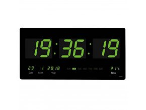 Led nastenne digitalni hodiny velkoformatove zelene