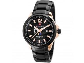 panske hodinky s dualnim casemNAVIFORCE ORLANDO black hlavni nove