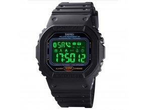 chytre smart outdoorove hodinky skmei 1629 cerne s led podsvicenim