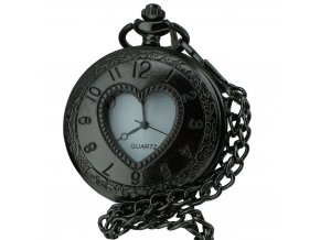kapesni hodinky na retizku do kapsy srdce stroj casu