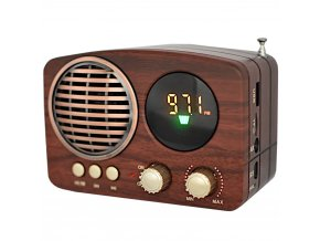 fm radio s bluetooth na sd kartu usb v retro stylu