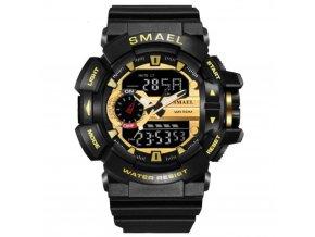 digitalni hodinky s dualnim casem smael 1436 gold
