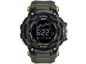 panske sportovni digitalni hodinky smael 1802 khaki green 1