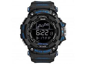 panske digitalni hodinky smael 1802 cerno modre