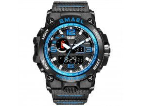 digitalni hodinky s dualnim casem smael 1545D modre