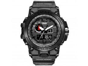 digitalni hodinky s dualnim casem smael 1545D cerne