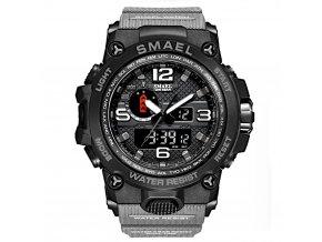 digitalni hodinky s dualnim casem smael 1545D sede cerne