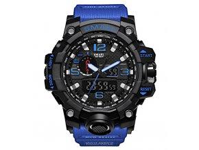 digitalni hodinky s dualnim casem smael 1545 modre cerne