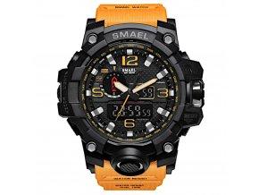 digitalni hodinky s dualnim casem smael 1545 oranzove