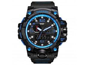 digitalni hodinky s dualnim casem smael 1545 modre