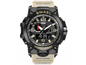 digitalni hodinky s dualnim casem smael 1545D sahara