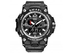 digitalni hodinky s dualnim casem smael 1545D silver