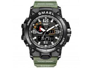 digitalni hodinky s dualnim casem smael 1545D army green